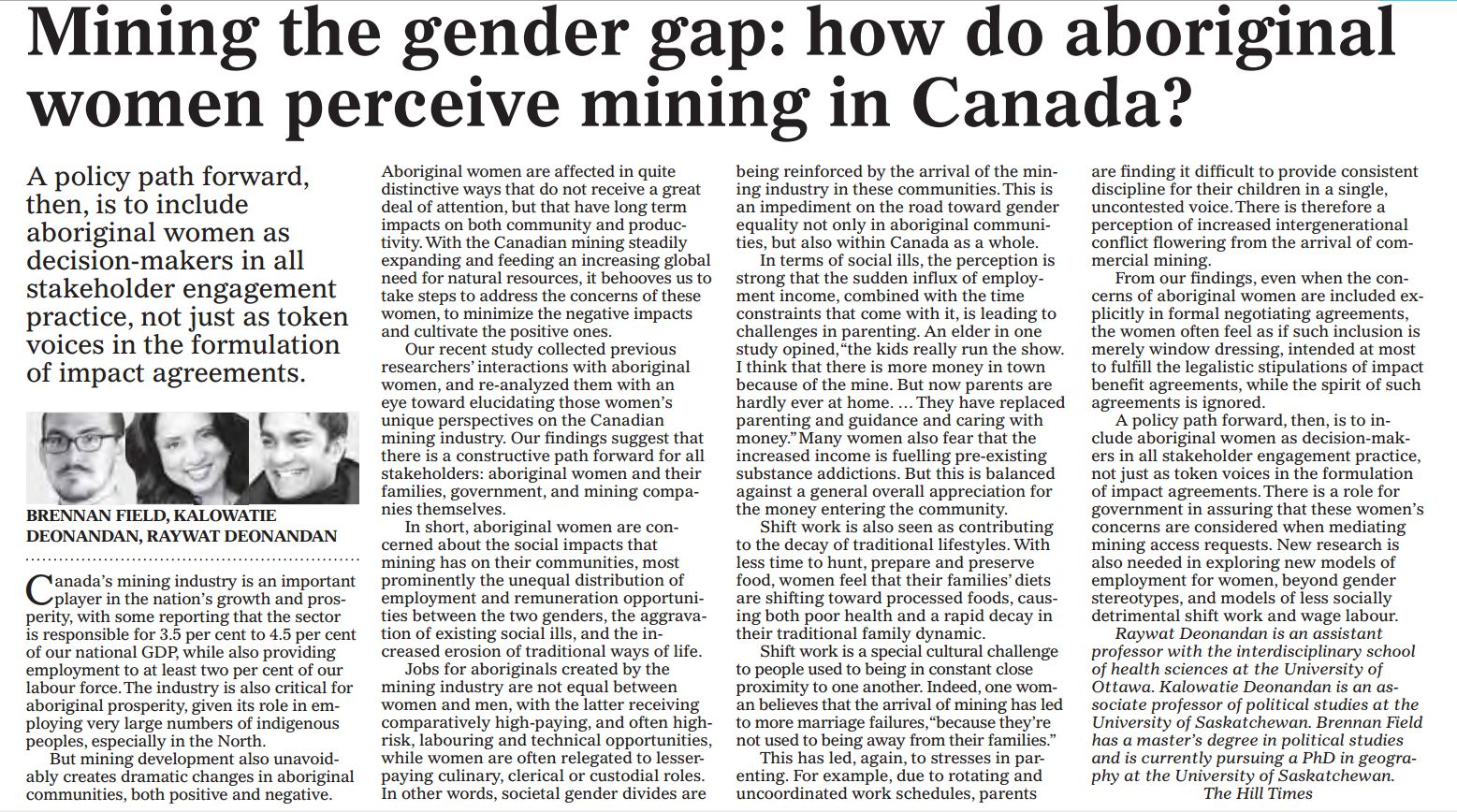 an analysis of the importance of mining in canada Business-oriented meetings in blue, research meetings (with calls for papers and program committee) in green october 2018 oct 25, observepoint analytics summit, free online event.